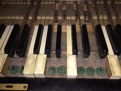 Dust under a keyboard