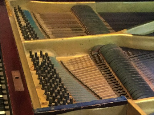 Dusty grand piano