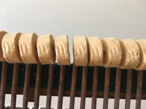 Grooved Upright Piano Hammers